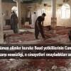 Suud yetkililerinin Camilerde işlenen cinayetlere karşı sessizliği, o cinayetleri onayladıkları anlamına gelir