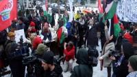Kudüs kararı, Belçika'nın başkenti Brüksel'de protesto edildi