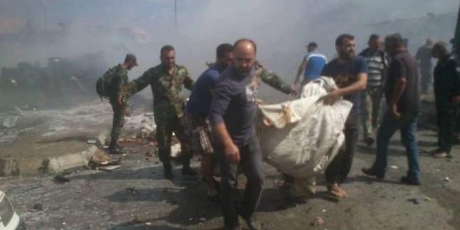 Direnişle Baş Edemeyen Vahşi Teröristler Suriye Halkına Saldırdı: 92 Sivil Şehid, 180 Sivil Yaralı