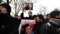 Meşhed halkı Türkiye konsolosluğu önünde Halep'in kurtuluşunu kutladı