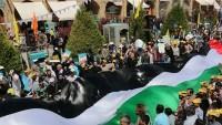İran'ın balistik füzeleri Kudüs Günü yürüyüşünde