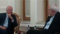 Zarif'le De Mistura'nın istişare görüşmesi