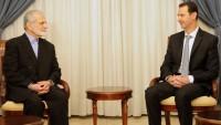 Harrazi ile Beşar Esad'ın görüşmesi