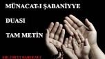 MÜNACAT-I ŞABANİYE DUASI