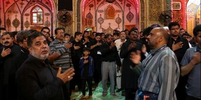 İmam Ali'nin türbesinde yapılan İmam Seccad'ın şehadet yıldönümü merasimi…