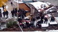 Çekmeköy'de göçük meydana geldi