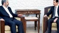 Avrupa'daki Filistin Diasporası Birliği Beşşar Esad İle Görüşmeleri Esnasında Halid Meşalin Adının Geçmediğini Belirtti…