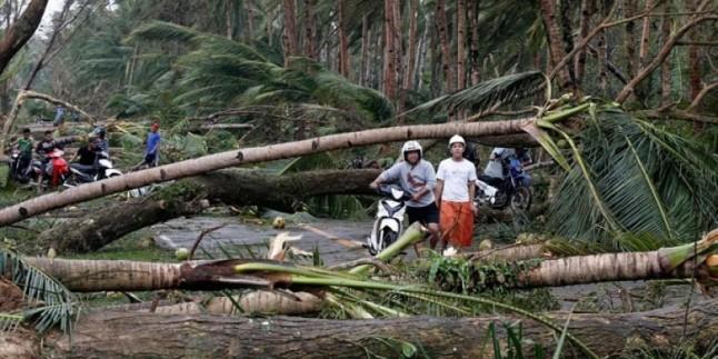 Hagupit Tayfunu Filipinler'de yıktı geçti
