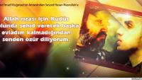 Şehid İmad Muğniyye'nin Annesi Hasan Nasrallah'tan Özür Diledi