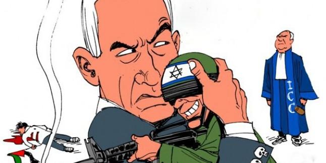 """Karikatür-Netanyahu: """"İsrailli askerlerin yargılanmasına izin vermem"""""""