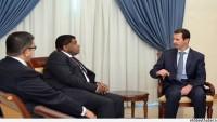 Beşar Esad, Uluslararası Parlamentolar Birliği Genel Sekreteri Martin Chungong'u Kabul Etti…