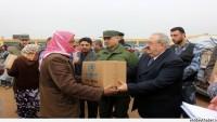 Halep Valiliği Terör Mağduru Sivillere Yardım Paketi Dağıttı…