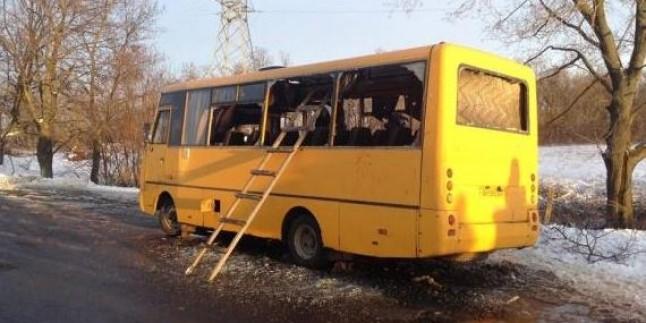 Donetsk'te Sivillerin Bulunduğu Otobüse Top İsabet Etti: 10 Ölü, 13 Yaralı…