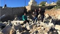 Siyonist İşgal Güçleri Kudüs'te Filistinlilere Ait İki Evi Yıktı…