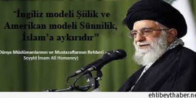 """İmam Ali Hamaney: """"İngiliz modeli Şiilik ve Amerikan modeli Sünnilik, İslam'a aykırıdır"""""""