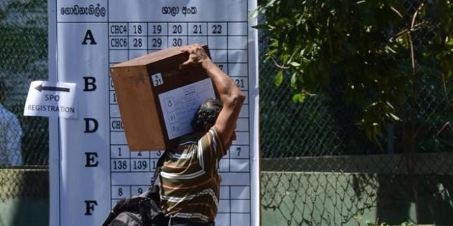 Sri Lanka bugün sandık başında