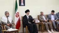 Foto: İmam Ali Hamaney, Şehit Kongreleri Yöneticilerini Kabul Etti…