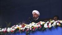 Hasan Ruhani, Tahran'ın Azadi Meydanı'nda Büyük Kalabalığa Hitap Etti…
