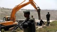 İşgal Güçleri El-Halil'in Güneyinde Yüzlerce Dönüm Ekili Araziyi Tahrip Etti…