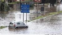 Güney Lübnan'da Sel Suları Filistinli Mültecilerin Evlerine Girdi…