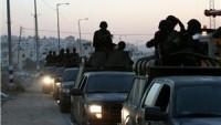 Filistin El-Faria Mülteci Kampı'nda Silahlı Kişilerle Güvenlik Görevlileri Çatıştı.