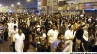 Arabistan'ın Katif şehrinde gösteriler sürüyor