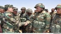 Suriye Savunma Bakanı Freyc, Bir Askeri Hava Üssüne Saha Gezisinde Bulundu