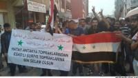 Antakya Halkı, Suriye Halkı ve Yönetimine Destek Yürüyüşü Yaptı