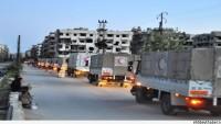 Şam Kırsalının Güney Beldelerine 18 Kamyon İnsani Yardım Gönderildi