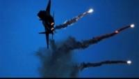Korsan İsrail Uçaklarının Humus'ta Suriye Ordusuna Ait Mevzileri Vurduğu Öne Sürüldü.