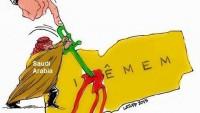 Karikatür: Siyonist Suudi Amerika, Yemen'i Kan Gölüne Çevirdi