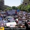 """İran Halkı, """"Ena Yemaniyyun"""" Sloganıyla Yemen Halkına Destek Yürüyüşü Düzenledi"""