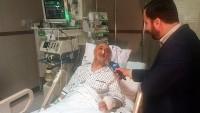 İran Cumhurbaşkanı Ruhani, İAEK Başkanı Salihi'yi Hastanede Ziyaret Etti