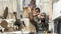 Suriye ordusu teröristlerin helikopterini düşürdü