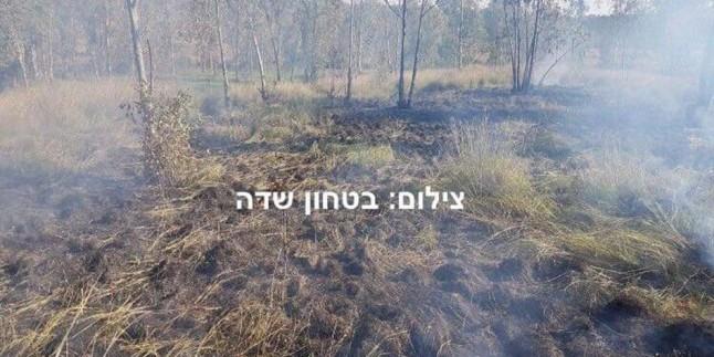 Gazze Şeridi Yakınlarında Kurulu Yerleşkelerde 6 Yerde Yangın Çıktı