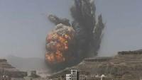 Suudi Rejimi Yemen'in Başkenti Sana'da Sivilleri Bombaladı