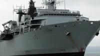 İngiliz savaş gemisine İngiliz tankeri eskort etti