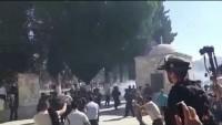 Bayram namazı çıkış Mescid'i Aksa'ya Saldırıdan görüntüler. 37 Filistinli Yaralandı