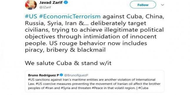 Cevad Zarif: ABD'nin ekonomik terörizmi İran halkını hedef alıyor