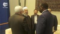 Irak, Lübnan, İrlanda, Liberya ve Senegal cumhurbaşkanları, Ruhani ile görüştüler
