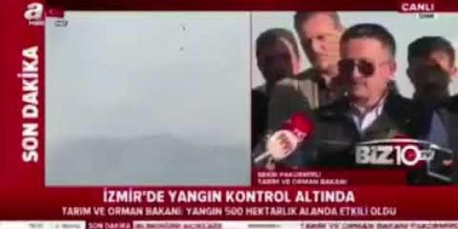İzmir Orman Yangınında Tarım Orman Bakanı; Uçaklarımız bozuk açıklaması