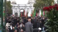 Londra'da Hüseyin Erbain Yürüyüşü Düzenlendi