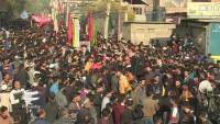 Keşmir'de coşkulu Hüseyni (S) Erbain merasimi