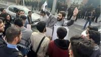 İranlı üniversitelilerden Filistin halkına destek gösterisi