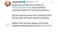 İran Dışişleri Bakanı: İranlılar hiçbir zaman ABD'nin zorbalığına teslim olmayacaklar