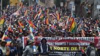 Bolivya'da eski Devlet Başkanı Morales'e destek gösterileri