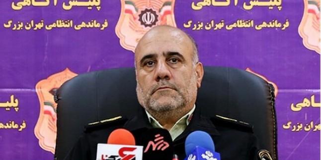 Tahran Polis Şefi General Hüseyin Rahimi: Tahran'da kamu düzenini bozanları yakaladık