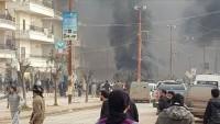 Suriye'nin kuzeyindeki Afrin ve Bab'da bomba yüklü araçlarla düzenlenen saldırılarda 7 kişi yaralandı