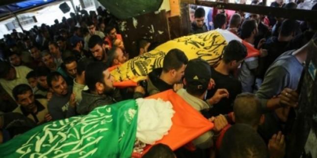Gazze Halkı Şehitlerini Uğurladı