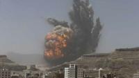 Katil Suudi Rejimin'den Yemen'e Yoğun Hava Saldırısı